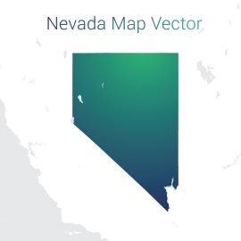 Nevada Map By Gradient Color Vector Design