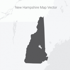 New Hampshire Map Dark Vector Design