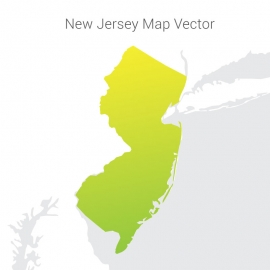 New Jersey Map By Gradient Vector Design