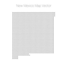 New Mexico Map By Dots Vector Design