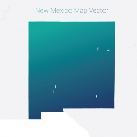 New Mexico Map By Gradient Vector Design