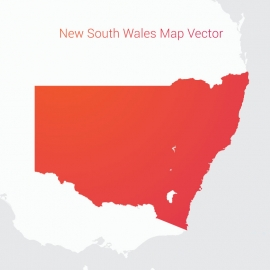 New South Wales Map By Gradient Color Vector Design