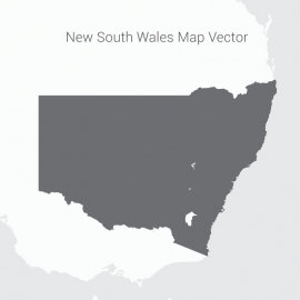 New South Wales Map Dark Vector Design
