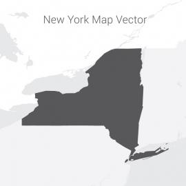 New York Map Dark Vector Design