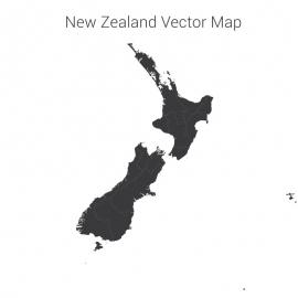 New Zealand Map Vector Design