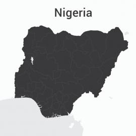 Nigeria Map Vector Design