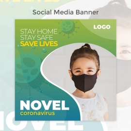 Novel Corona Virus Social Media Template