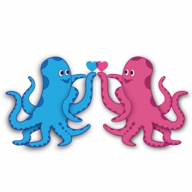 Octopus Vector with Love