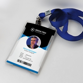 Office Identity Card With Blue Concepts