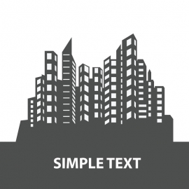 Official Silhouettes Building Vector