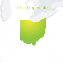 Ohio Map By Gradient Color Vector Design