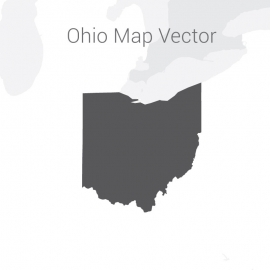 Ohio Map Dark Vector Design