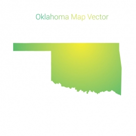 Oklahoma Map By Gradient Color Vector Design