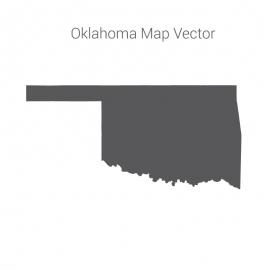 Oklahoma Map Dark Vector Design