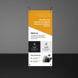 Orange Accent Boxs Rollup Banner