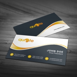 Orange Accent Business Card