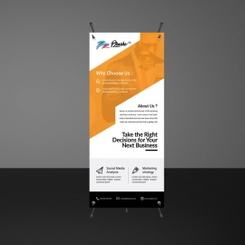 Orange Accent Business Rollup Banners