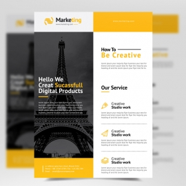 Orange Accent Corporate Flyer Template