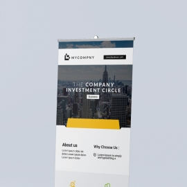 Orange Accent Corporate Rollup Banner