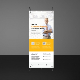 Orange Accent Creative Rollup Banners