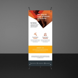 Orange Accent Rollup Banner