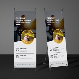 Orange Accent Rollup Banner Template