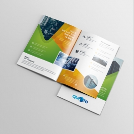 Orange And Green Business Bifold Brochure