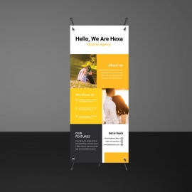 Orange Boxs Simple Rollup Banner