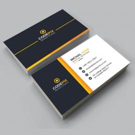 Orange Business Card Desi