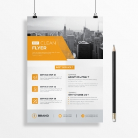 Orange Clean Flyer