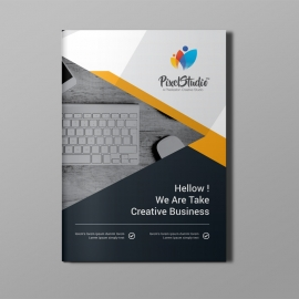 Orange Corporate Bi-Fold Brochure