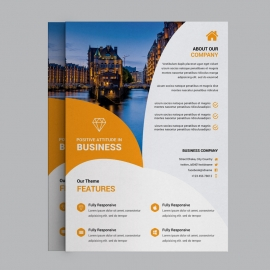 Orange Corporate Business Flyer