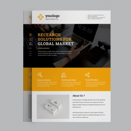 Orange Corporate Business Flyer