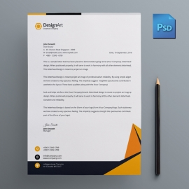 Orange Corporate Business Letterhead
