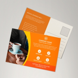 Orange Corporate Postcard Design