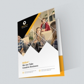 Orange Corporate Presentation Folder