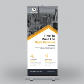Orange Corporate Roll-Up Banner