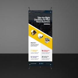 Orange Corporate Rollup Banner