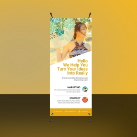 Orange Creative Business Rollup Banners
