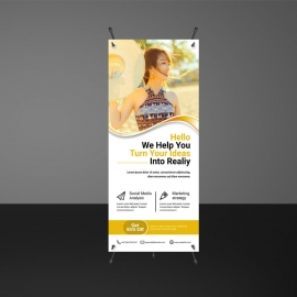 Orange Rollup Banners Design