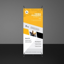 Orange Rollup Banners Template