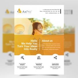 Orange Simple Corporate Flyer