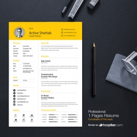 Orange Simple Resume Design