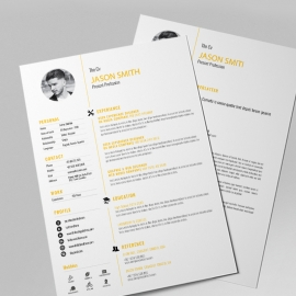 Orange Simple Resume Design
