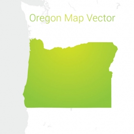 Oregon Map By Gradient Color Vector Design