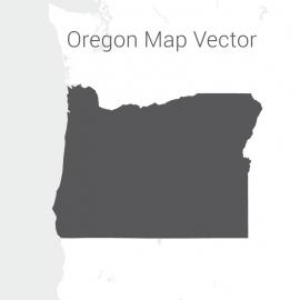 Oregon Map Dark Vector Design