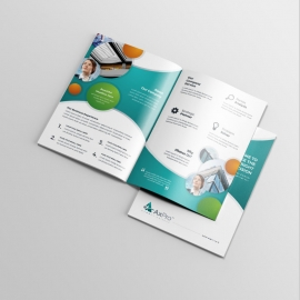 Paste Accent Business BiFold Brochure With Cricle