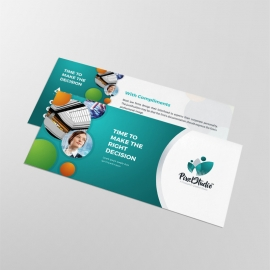 Paste Accent Business Compliment Card With Cricle