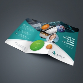 Paste Accent Business TriFold Brochure With Cricle