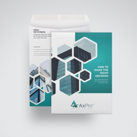 Paste Accent C4 Envelope Catalog With Hexagon